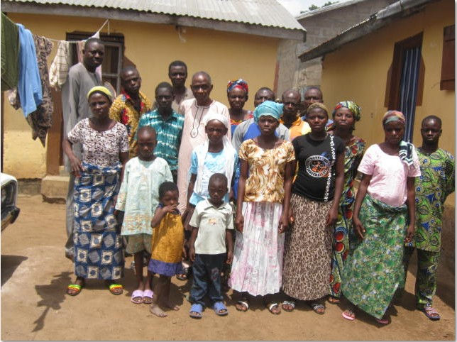 Pastor Tunde Oloyede and Barrister George with part of the congregation in Togo
