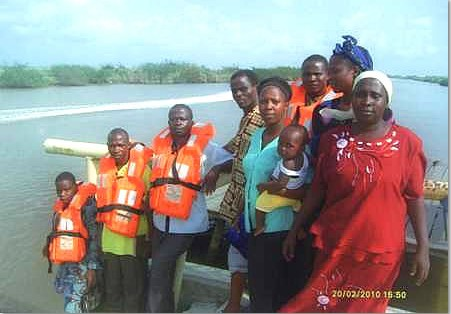 This is the gospel outreach team of the ministry, during one of their mission outreaches to Obe-nla, riverine area of Ondo State, Nigeria