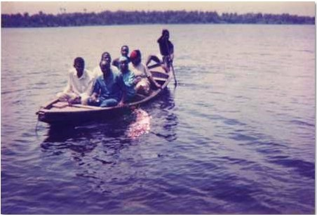 The very first mission outreach to the Lagos riverine area in Lagos, Nigeria in 1989