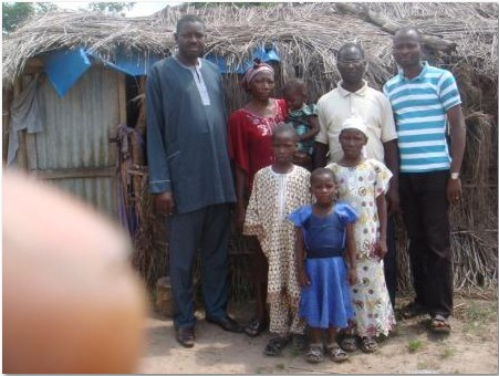 Barrister George with the family of Pastor Dayo Akinpelu during one of his visits to the station