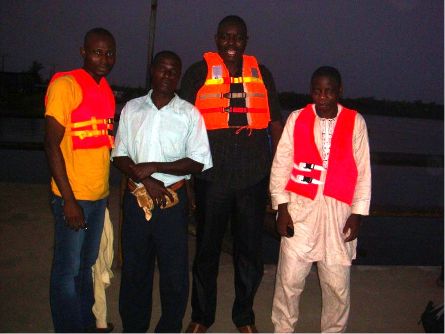 Second from Left To Right: Pastor Ayo-Oluwa Oloyede, Pastor Emmanuel Oluwalowo (Obe-nla missionary), Barrister George Olaniyi (Publication Co-ordinator) Bro. Omotayo (Mission Co-ordinator - Heirs of God Christian Ministry) during their visit to the mission station at Obe-nla