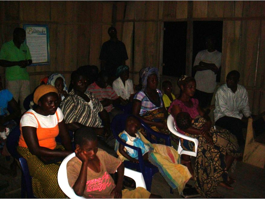 Another shot of a weekly service, the congregation attentively listening to the Word of God