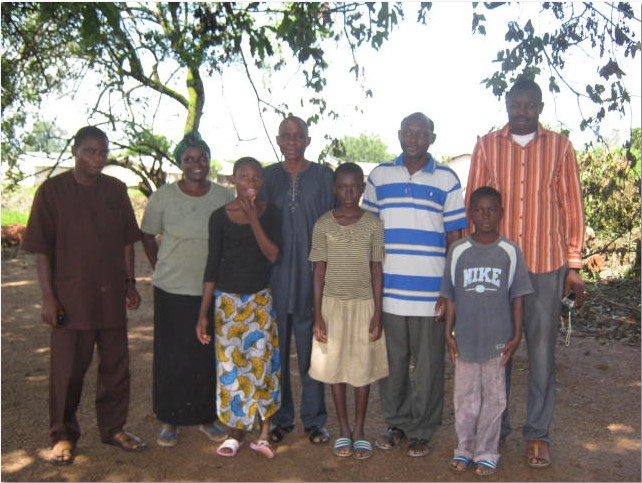 First from Left, Bro. Omotayo, 4th is Pastor Tunde Oloyede, last is Barrister George Olaniyi posing with a missionary family who have been in Togo for over sixteen (16) years